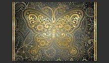 Fototapete Gold butterfly 245 cm x 350 cm East