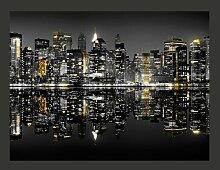 Fototapete Gold und Silber - NYC 231 cm x 300 cm
