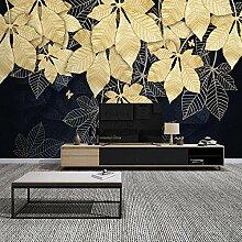 Fototapete Goldene Blätter 3D Wandbilder Für