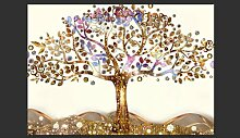 Fototapete Goldener Baum 245 cm x 350 cm