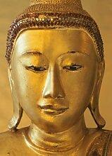 Fototapete Goldener Buddha, 4-Teilig - Größe 194