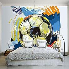 Fototapete Graffiti-Fußball-nichtgewebte nahtlose
