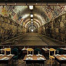 Fototapete Graffiti-Tunnel 200CM x 140CM Wandbild