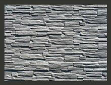 Fototapete Graues Natursteinmauerwerk 193 cm x 250