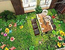 Fototapete Große Bodenbelag Tapete Blume Gras