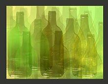 Fototapete Grüne Flaschen 193 cm x 250 cm