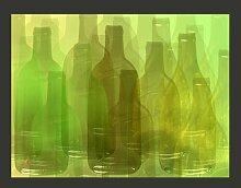 Fototapete Grüne Flaschen 231 cm x 300 cm
