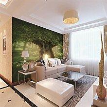 Fototapete Grüner Baum Moderne Wandbild Tapete 3D
