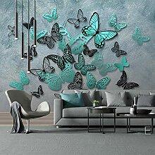 Fototapete Grüner Schmetterling 3D Wandbilder