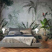 Fototapete Handgemalte tropische Pflanze Blätter