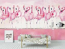 Fototapete Handgemalter Rosa Flamingo 200x140cm M