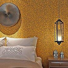Fototapete Hanmero Papier mit Vliestapete Vergolden Curve Sehr Hochwertig Tapete Braun-Gelb Tapete 10*0.53m