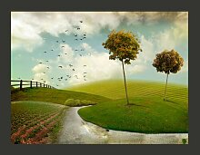 Fototapete Herbst - Landschaft 309 cm x 400 cm