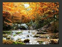 Fototapete Herbst - Wasserfall 154 cm x 200 cm