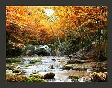 Fototapete Herbst - Wasserfall 193 cm x 250 cm