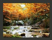 Fototapete Herbst - Wasserfall 231 cm x 300 cm