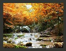 Fototapete Herbst - Wasserfall 270 cm x 350 cm