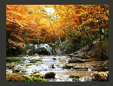 Fototapete Herbst - Wasserfall 309 cm x 400 cm