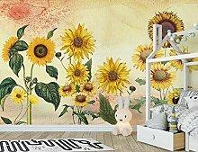 Fototapete Hintergrundbild Vintage Sonnenblume