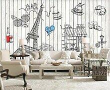 Fototapete Hintergrundwand der Pariser