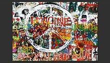 Fototapete Hippie Graffiti 210 cm x 300 cm