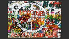 Fototapete Hippie Graffiti 280 cm x 400 cm