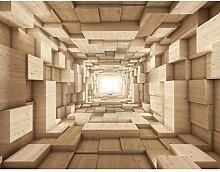 Fototapete Holz Optik Vlies Wand Tapete Wohnzimmer