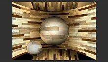 Fototapete Holz-Orbit 280 cm x 400 cm East Urban