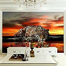 Fototapete Home Haus Tapete Leopard Fototapete