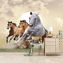 Fototapete Home Haus Tapete Pferdegruppe