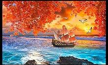 Fototapete Hongye Segelboot Selbstklebende Tapeten