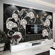 Fototapete Juwelblume 3D Wandbilder Vlies Tapete