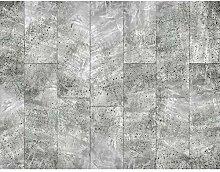 Fototapete Kachel Grau 396 x 280 cm Vlies Wand