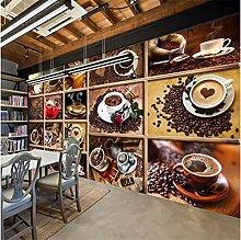 Fototapete Kaffeebohnen Kaffeetasse 3D Fototapete