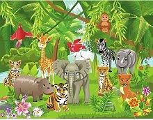 Fototapete Kids Dschungel-Tiere 1.845m x 50cm