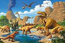 Fototapete Kinderzimmer Dino Abenteuer Dinosaurier