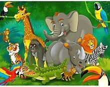 Fototapete Kinderzimmer Zoo 396 x 280 cm Vlies