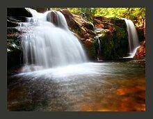 Fototapete Kleiner Elbe-Wasserfall 309 cm x 400 cm