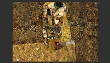 Fototapete Klimt inspiration - Golden Kiss 280 cm