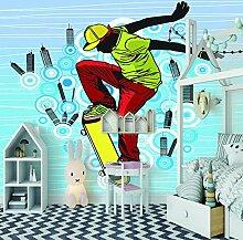 fototapete küche 430x300CM Junge mit blauem