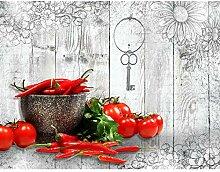 Fototapete Küche Gewürze 396 x 280 cm - Vlies