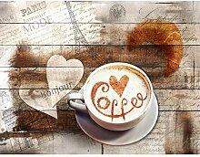 Fototapete Küche Kaffe 396 x 280 cm - Vlies Wand