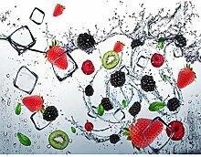 Fototapete Küche Obst 396 x 280 cm - Vlies Wand