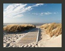Fototapete Langeoog - Strand an der Nordsee 270 cm