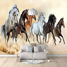 Fototapete Laufende Pferde Mauer Fresco Foto