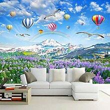Fototapete Lavendel Heißluftballon 3D Wandbilder