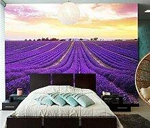 Fototapete Lavendel Villa Mauer Fresco Foto