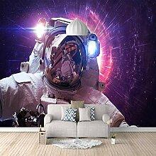 Fototapete Lila Astronaut 3D Wandbilder Für
