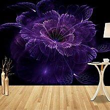 Fototapete Lila Blume 3D Wandbilder Für Fernseher