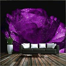 Fototapete Lila Blumen Tapete 3D Foto Tapete